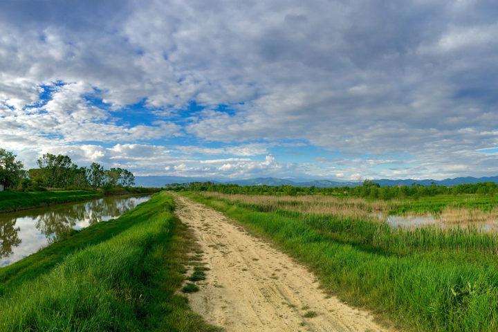 Vinciből haza a Massarella természetvédelmi területen jöttem keresztül, gyönyörű és jól kerékpározható terület.