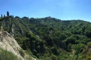 Crete Senesi, a Sienától DK-re fekvő vidék mart, szaggatott völgyei