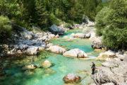 A Vrsic-hágó felé az Isonzó folyó mentén kezdtünk