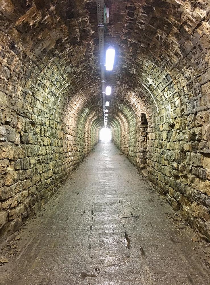 A Zoncolan egyik alagútja