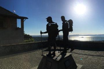 Via Francigena - Montefiascone, kilátás a Bolsano-tóra