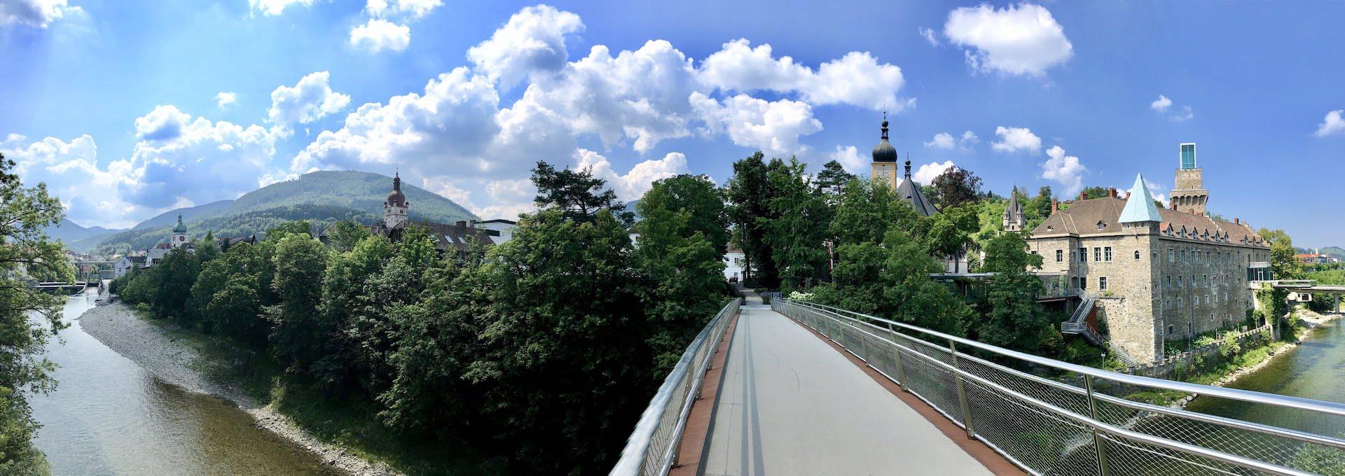 Ausztria: Az Ybbs menti vasútvonal és a Duna Melkkel