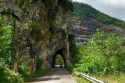 Úton Garfagnanába, a Serchio folyó völgyében.
