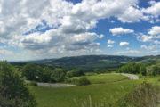 Az Orcia völgyéből felfelé