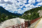 Az egykori vasúti híd Bagni di Lusnizza közelében.