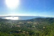 Via Francigena - Montefiascone, kilátás a Bolsano-tóra a Rocca dei Papiról